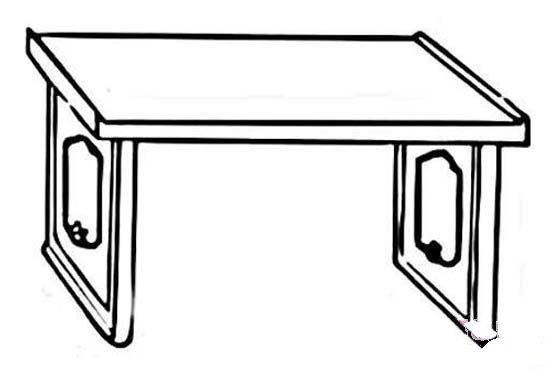 手绘古代桌子简笔画图片