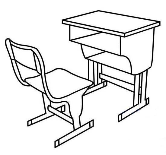 学生教室课桌椅简笔画图片大全