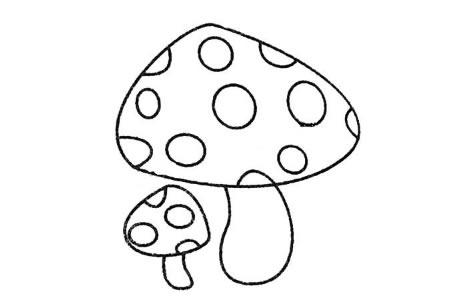 3.最后画蘑菇的斑点。