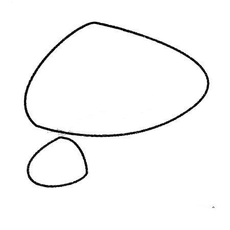 1.先画两个蘑菇头。