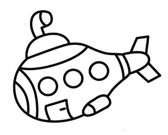 海底两万里潜艇简笔画图片