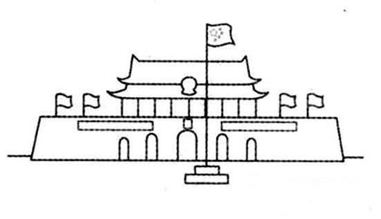 中国北京天安门广场简笔画图片大全